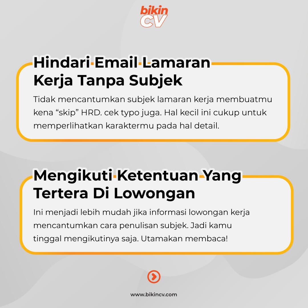 5  Tips Membuat Subjek Email Lamaran Kerja Agar Menarik & Menonjol