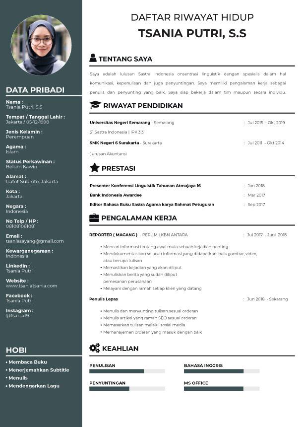 Template CV Minimal