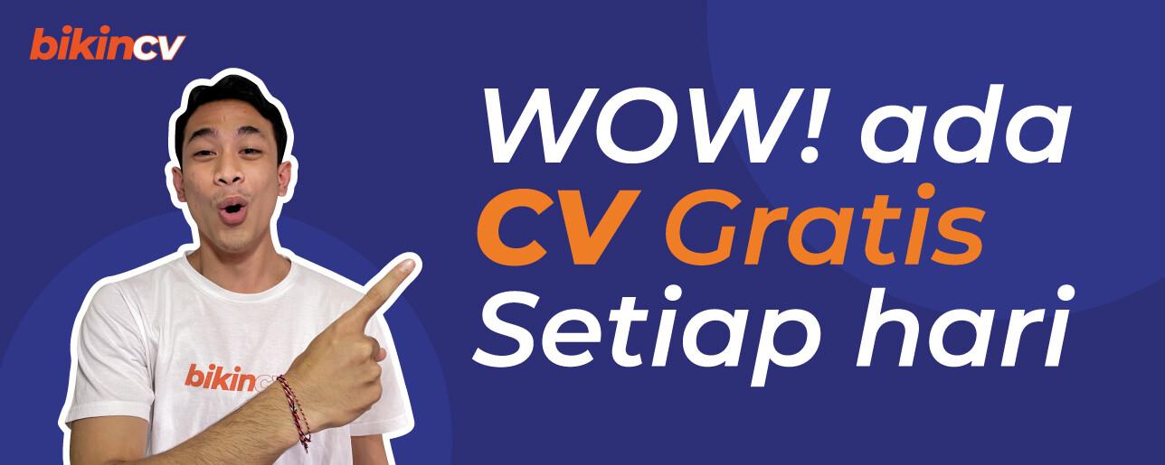 Promo Buat CV Online Gratis